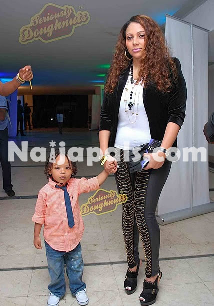 Description: Lola Omotayo (Peter's Baby Mama Girlfriend and Cameron