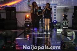 Waje and Munachi on Stage