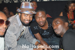 Comedian Basket Mouth and Bovi with friends