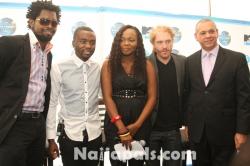 Basketmouth 2CMTV Base Director of Marketing Sylvester Chauke 2C MTV Base VJ Cynthia Okpala 2C MTV B
