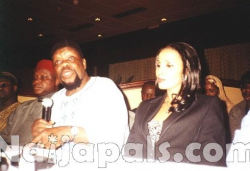 Ojukwu and Wife at a function