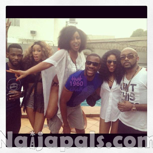 Photos From Rita Dominic's New Year's Pool Party