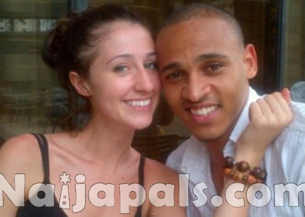 Osaze Odemwingie and Sarah.