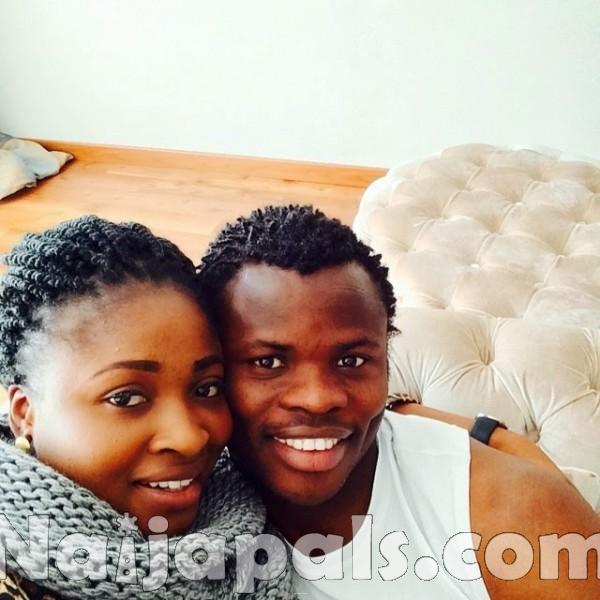 Taye Taiwo and wife Nimot.