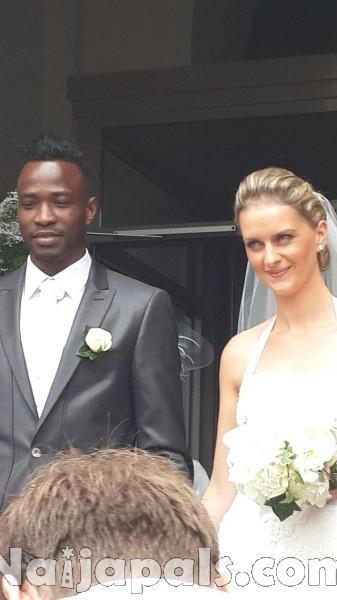 John Utaka and wife