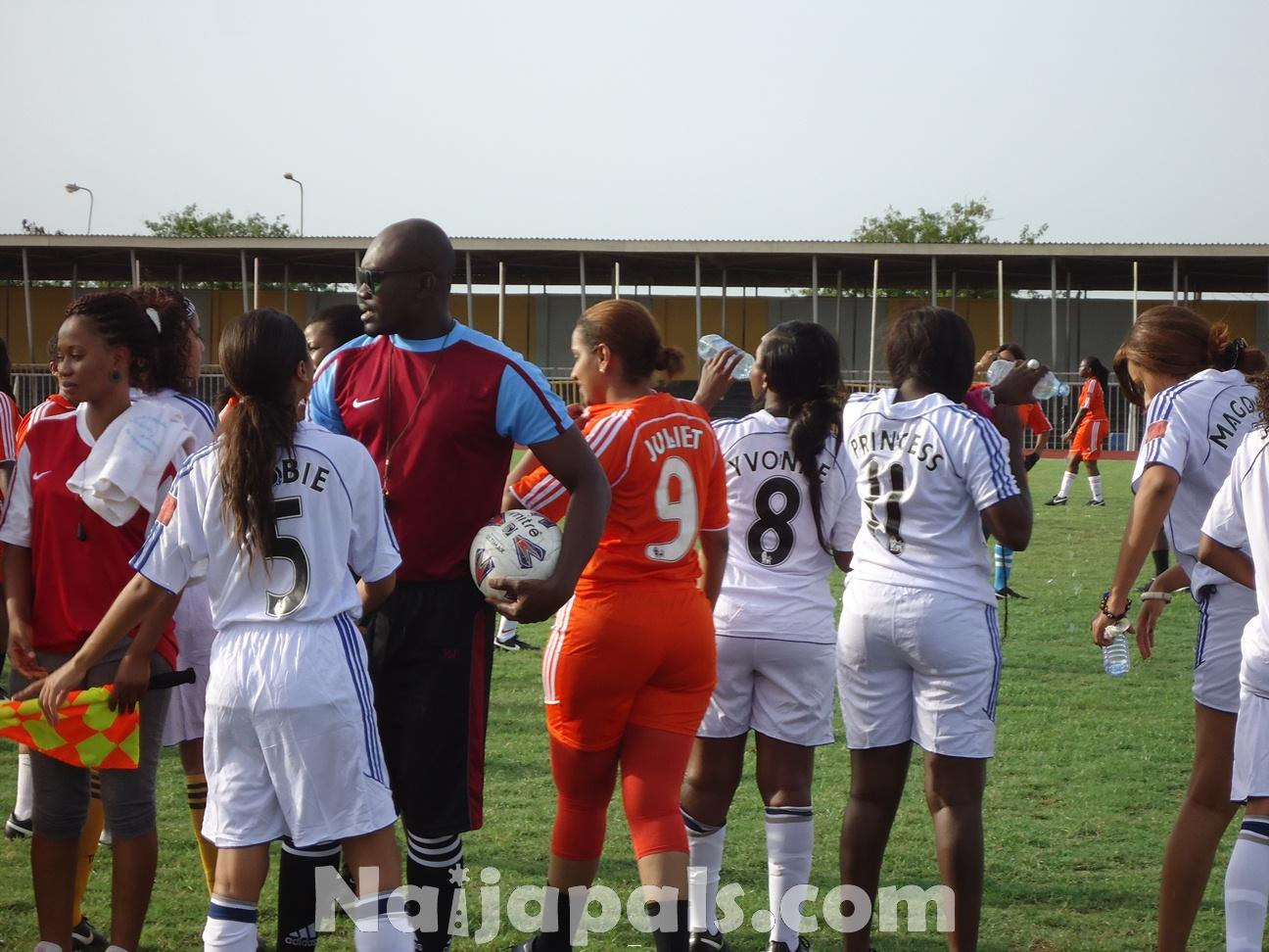 Ghana Female Celebrities Soccer Match 1