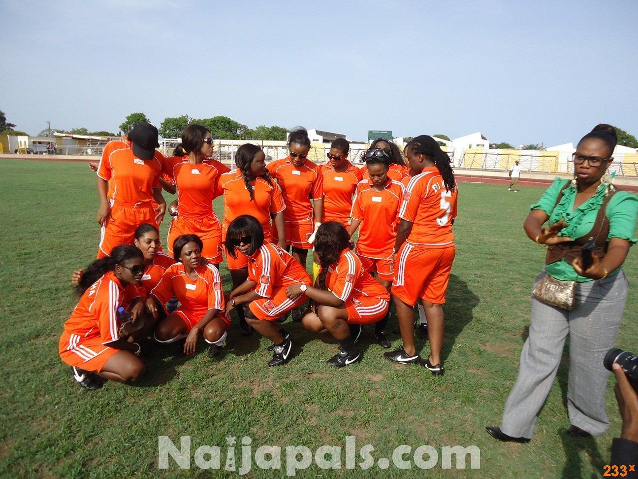 Ghana Female Celebrities Soccer Match 5