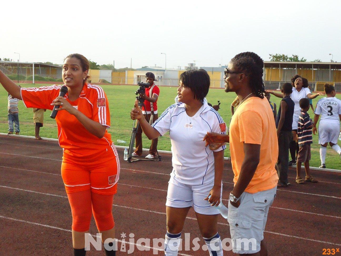 Ghana Female Celebrities Soccer Match 33
