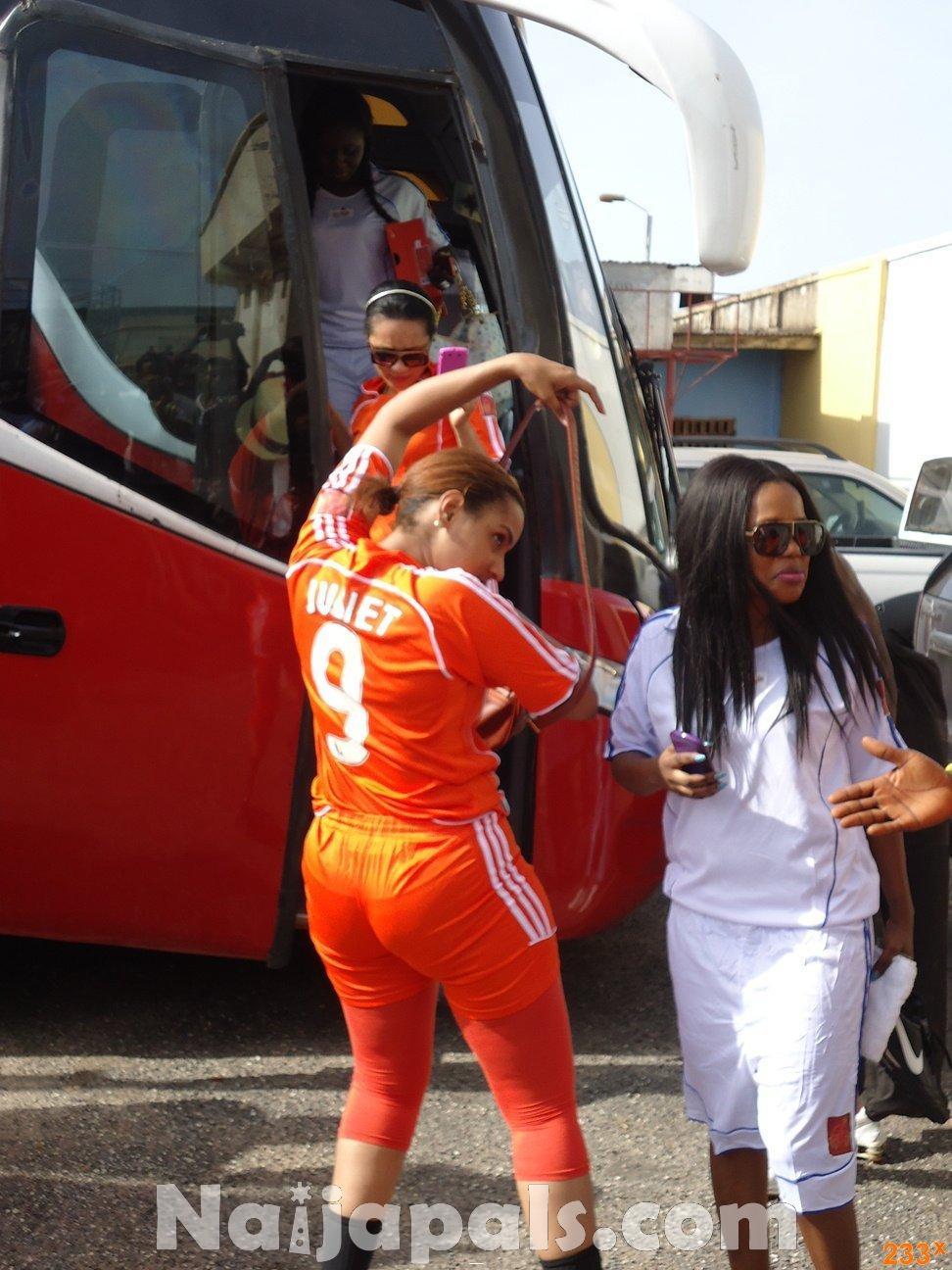 Ghana Female Celebrities Soccer Match 35