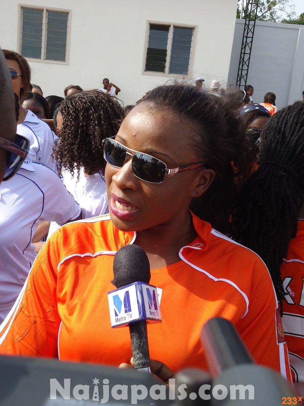 Ghana Female Celebrities Soccer Match 36