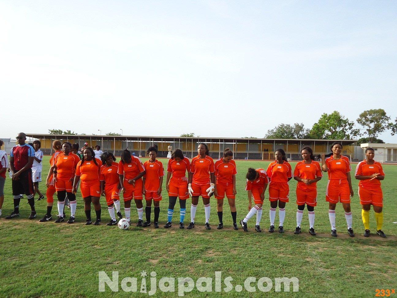 Ghana Female Celebrities Soccer Match 39