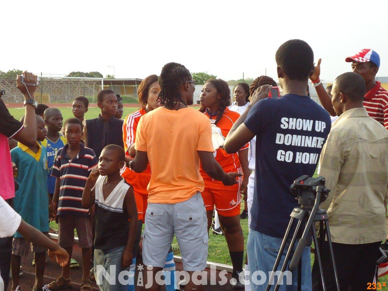 Ghana Female Celebrities Soccer Match 41