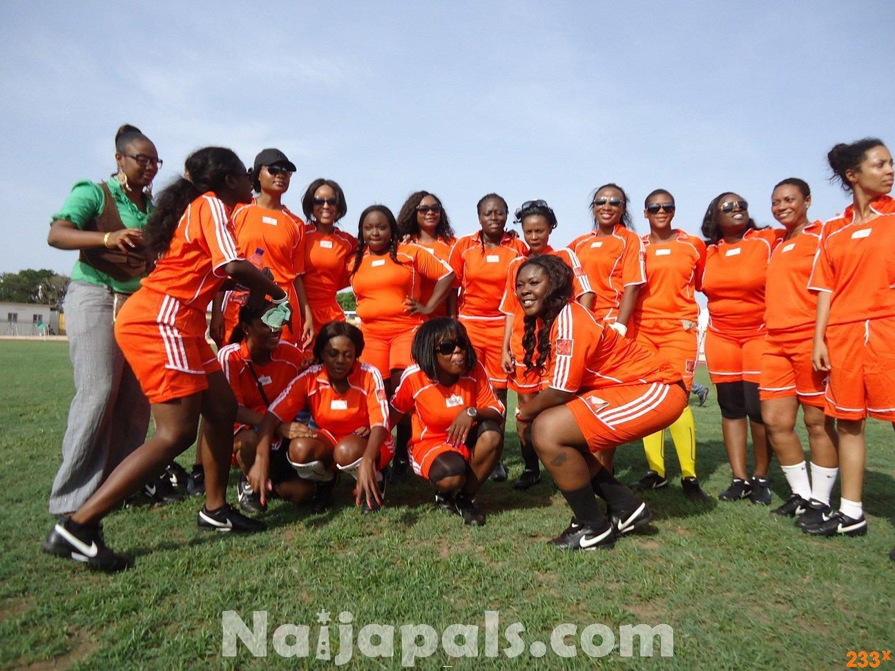 Ghana Female Celebrities Soccer Match 44