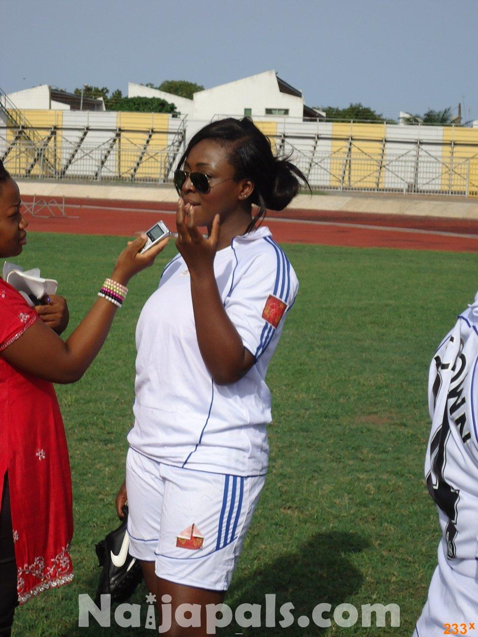 Ghana Female Celebrities Soccer Match 45
