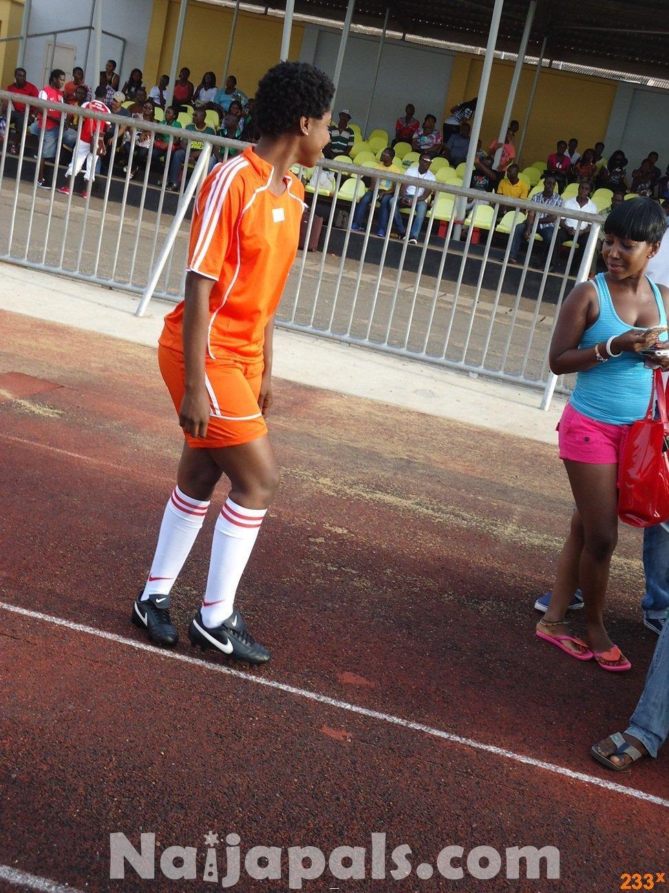 Ghana Female Celebrities Soccer Match 47