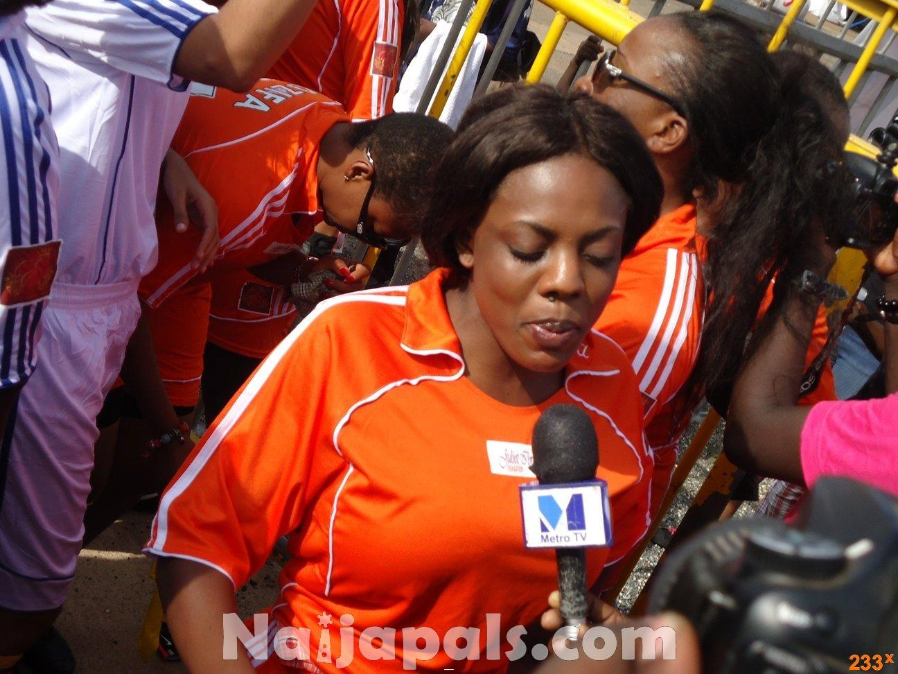 Ghana Female Celebrities Soccer Match 50