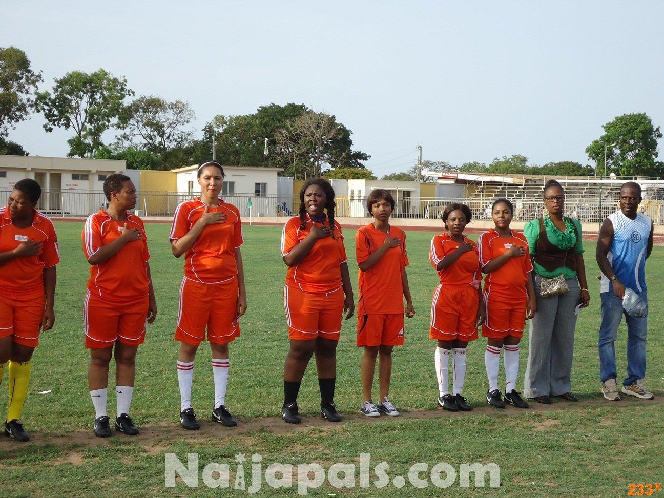 Ghana Female Celebrities Soccer Match 53