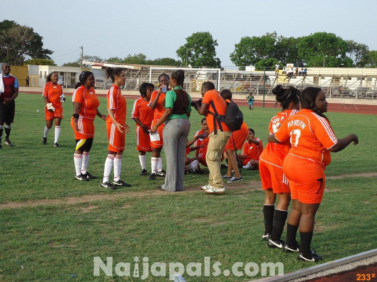 Ghana Female Celebrities Soccer Match 54