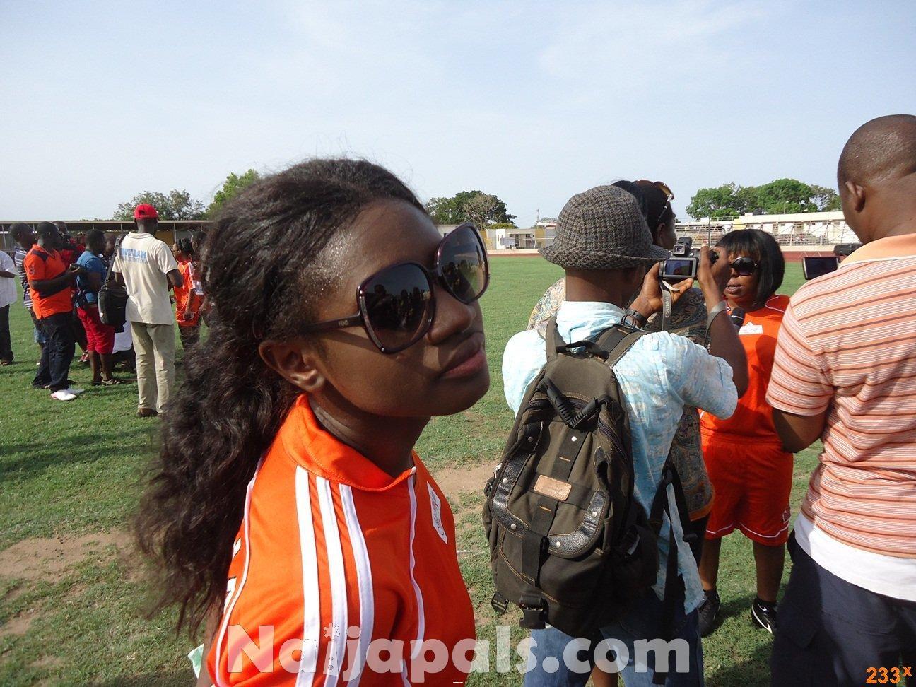 Ghana Female Celebrities Soccer Match 58