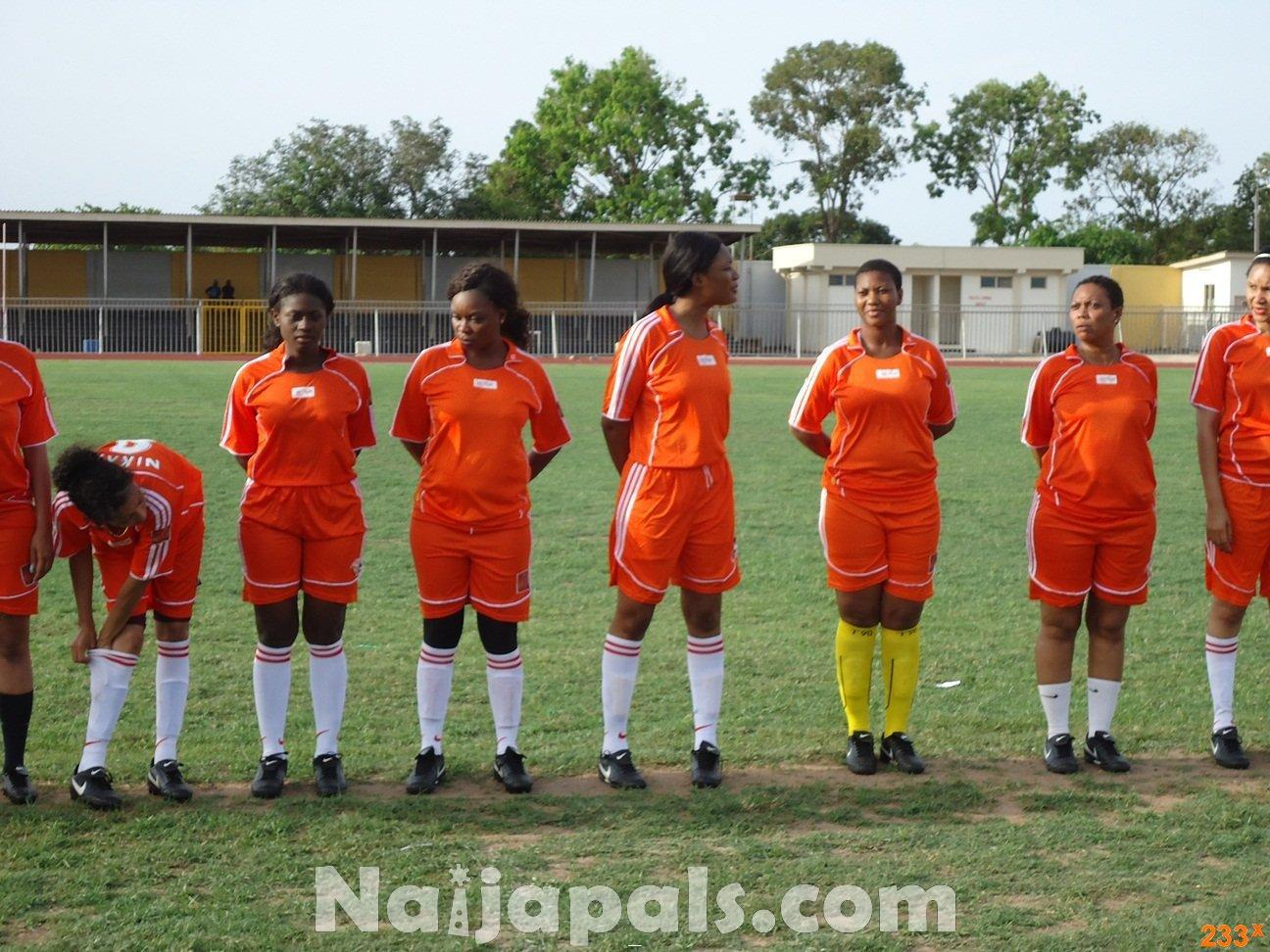 Ghana Female Celebrities Soccer Match 60
