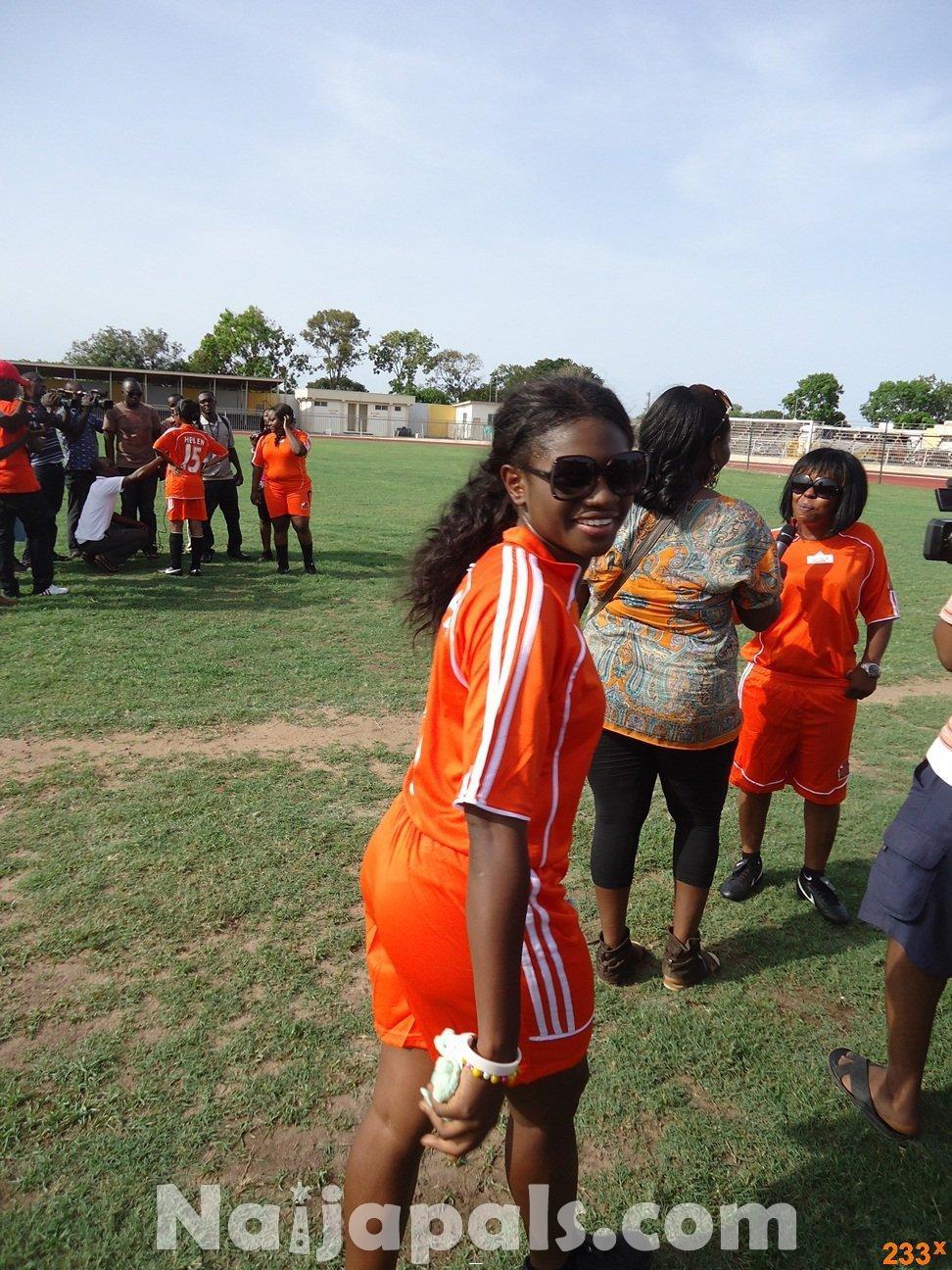 Ghana Female Celebrities Soccer Match 65