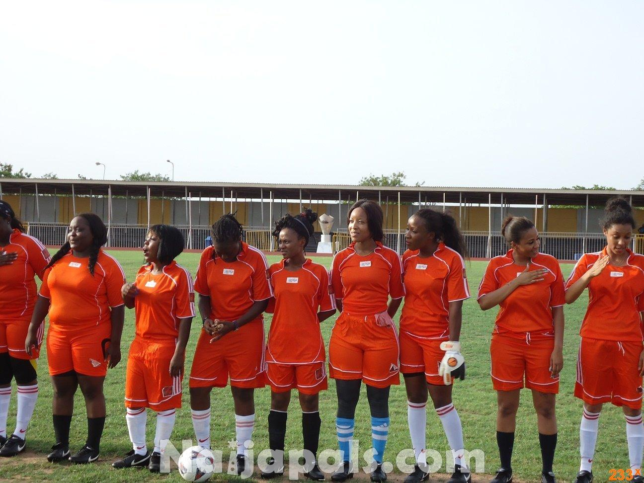 Ghana Female Celebrities Soccer Match 67