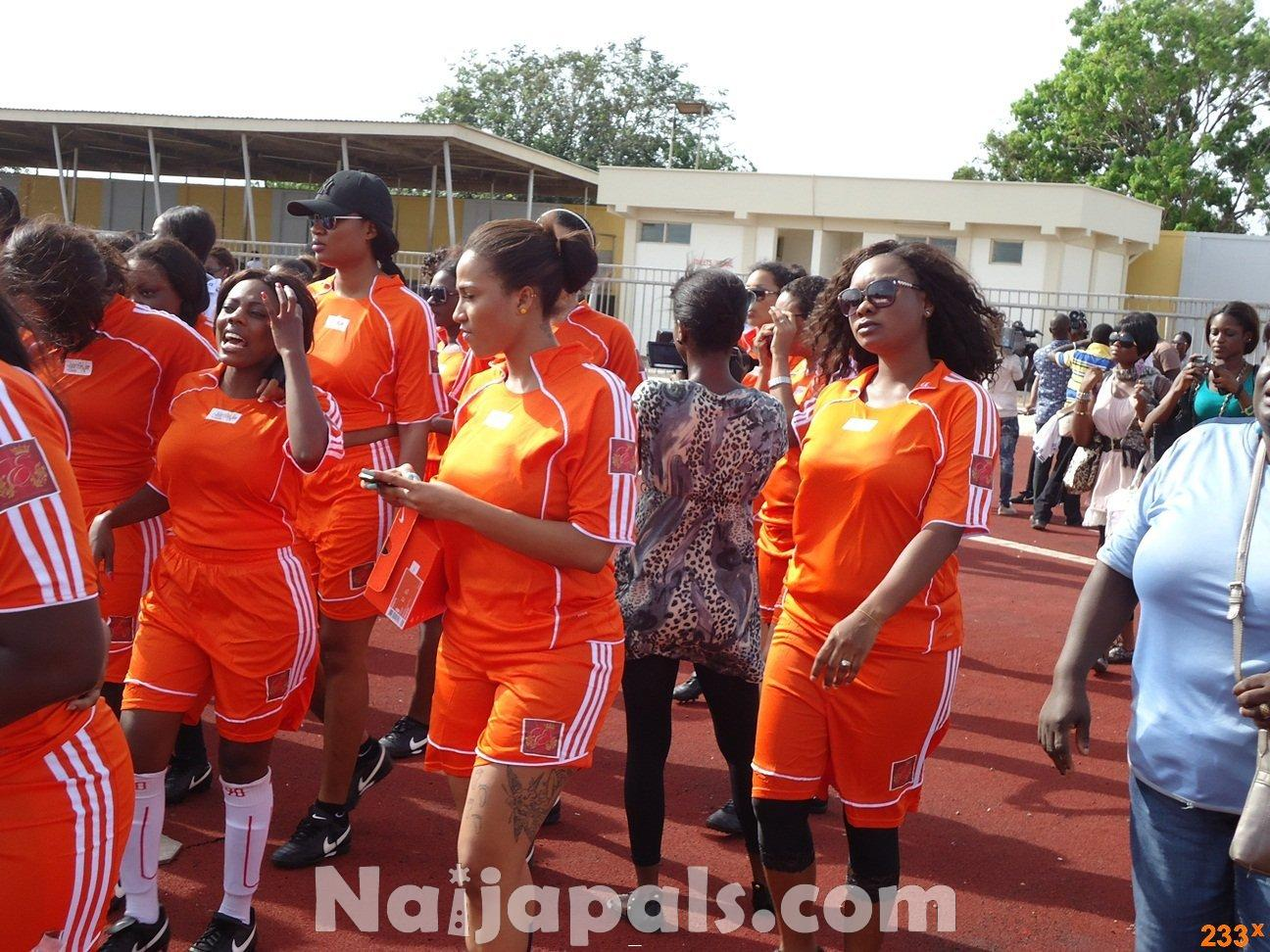 Ghana Female Celebrities Soccer Match 71