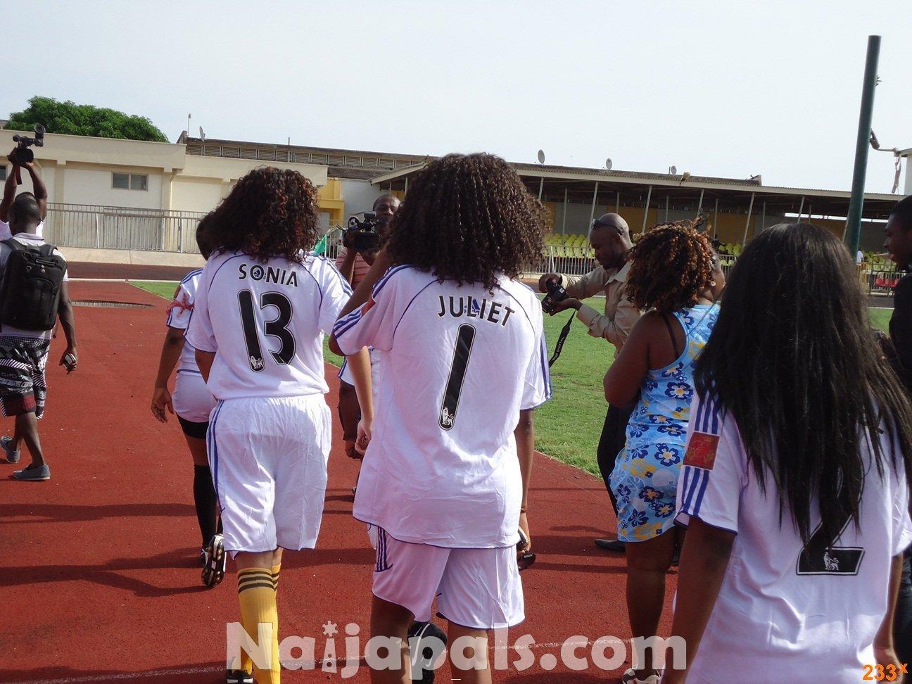 Ghana Female Celebrities Soccer Match 78