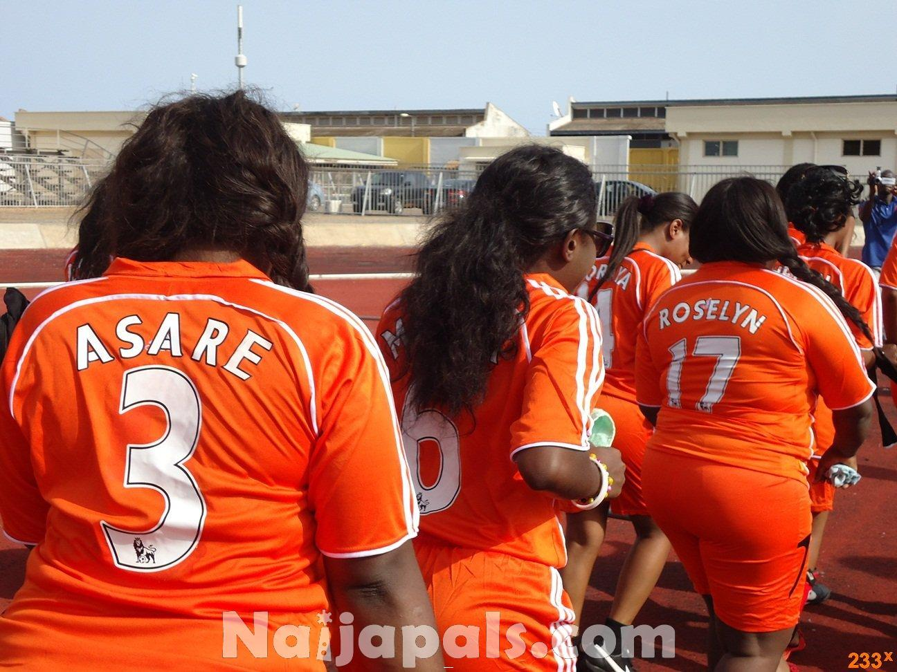 Ghana Female Celebrities Soccer Match 85