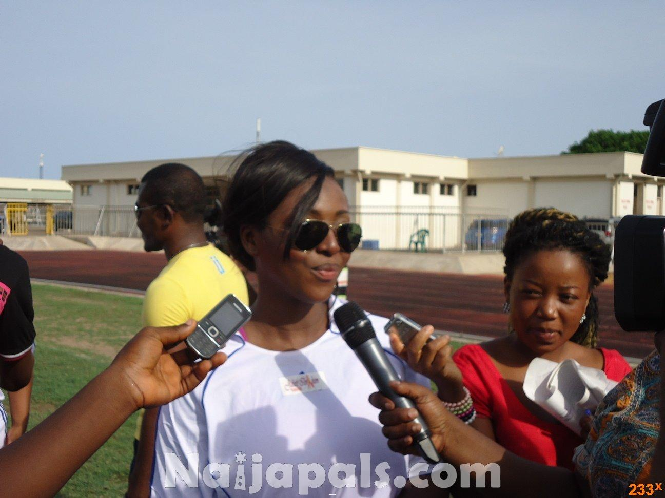 Ghana Female Celebrities Soccer Match 87