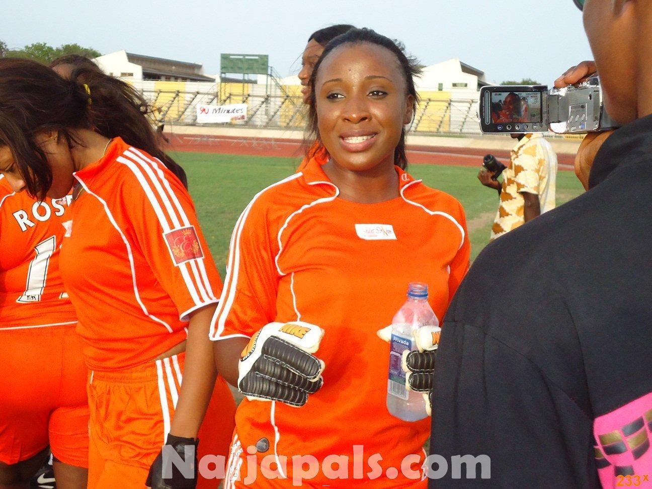 Ghana Female Celebrities Soccer Match 89