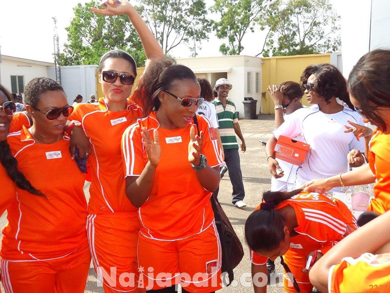 Ghana Female Celebrities Soccer Match 91
