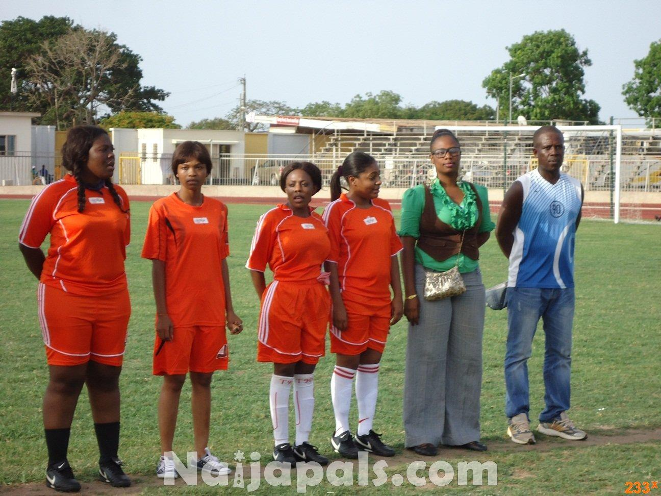 Ghana Female Celebrities Soccer Match 95