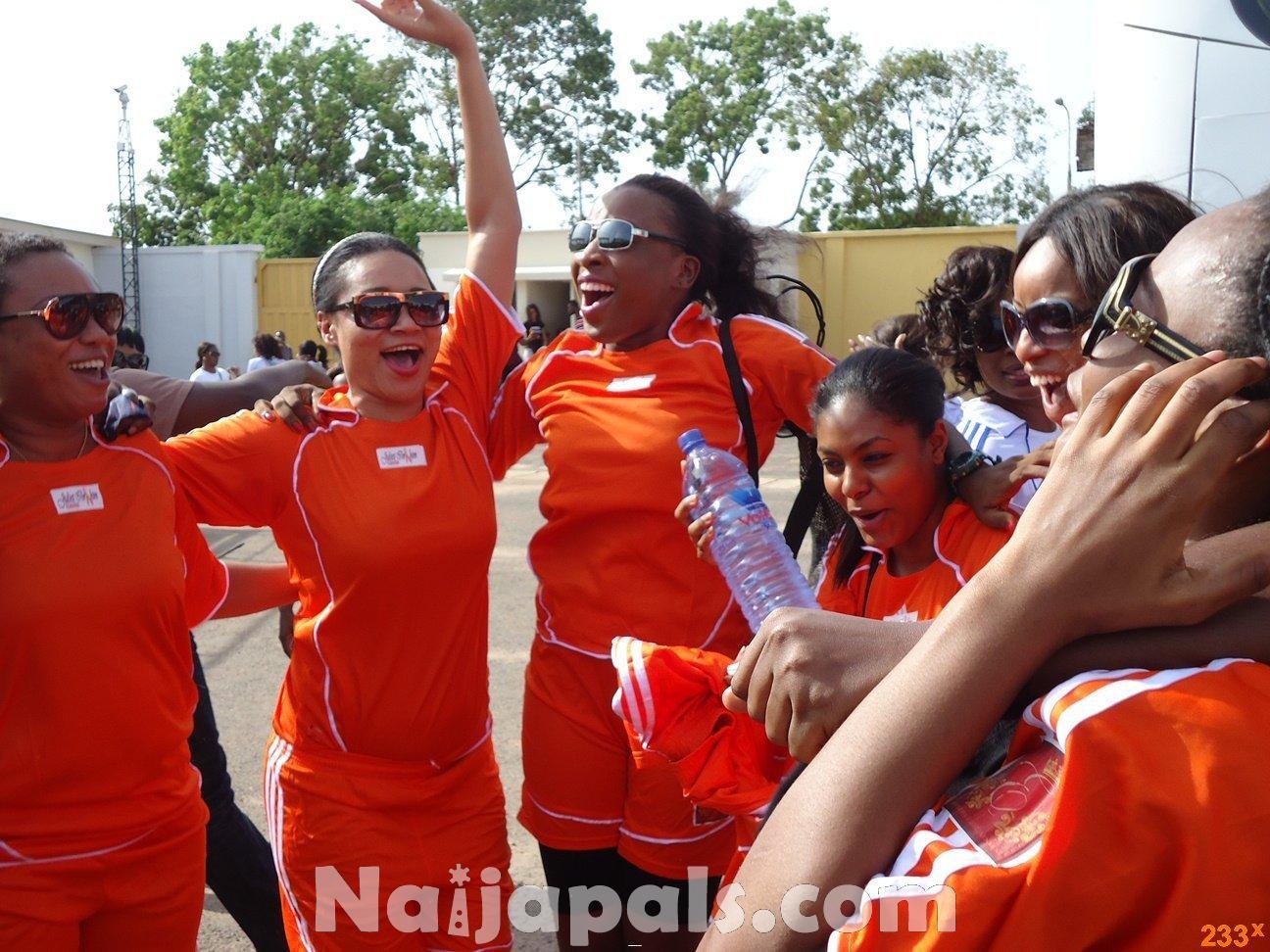 Ghana Female Celebrities Soccer Match 98