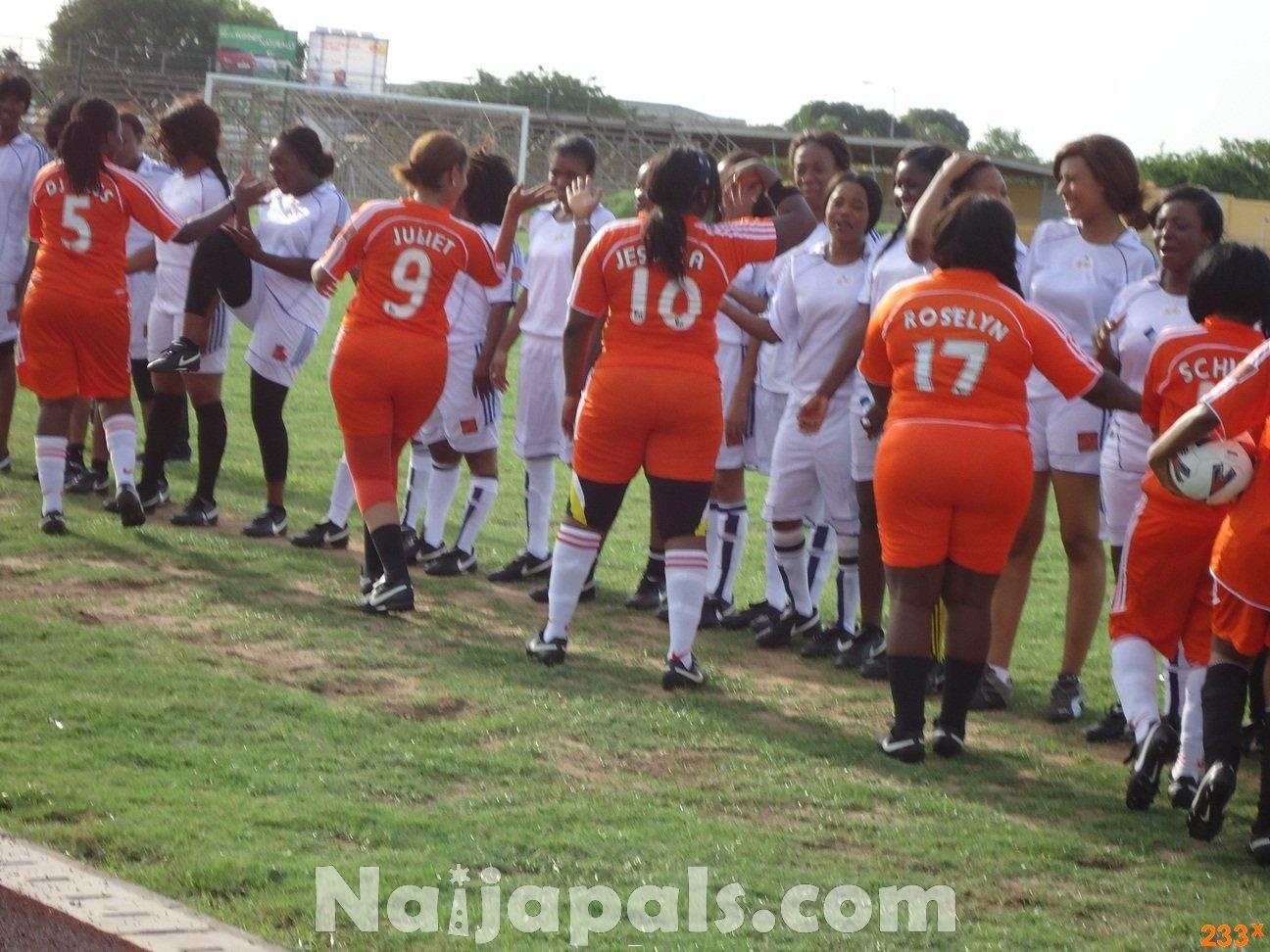 Ghana Female Celebrities Soccer Match 102
