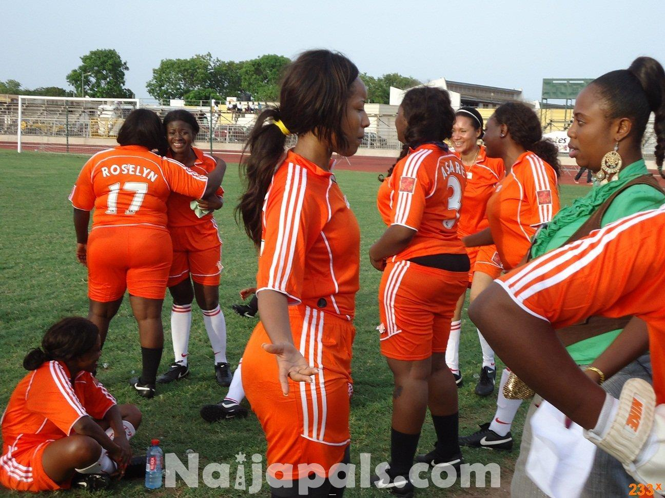Ghana Female Celebrities Soccer Match 103