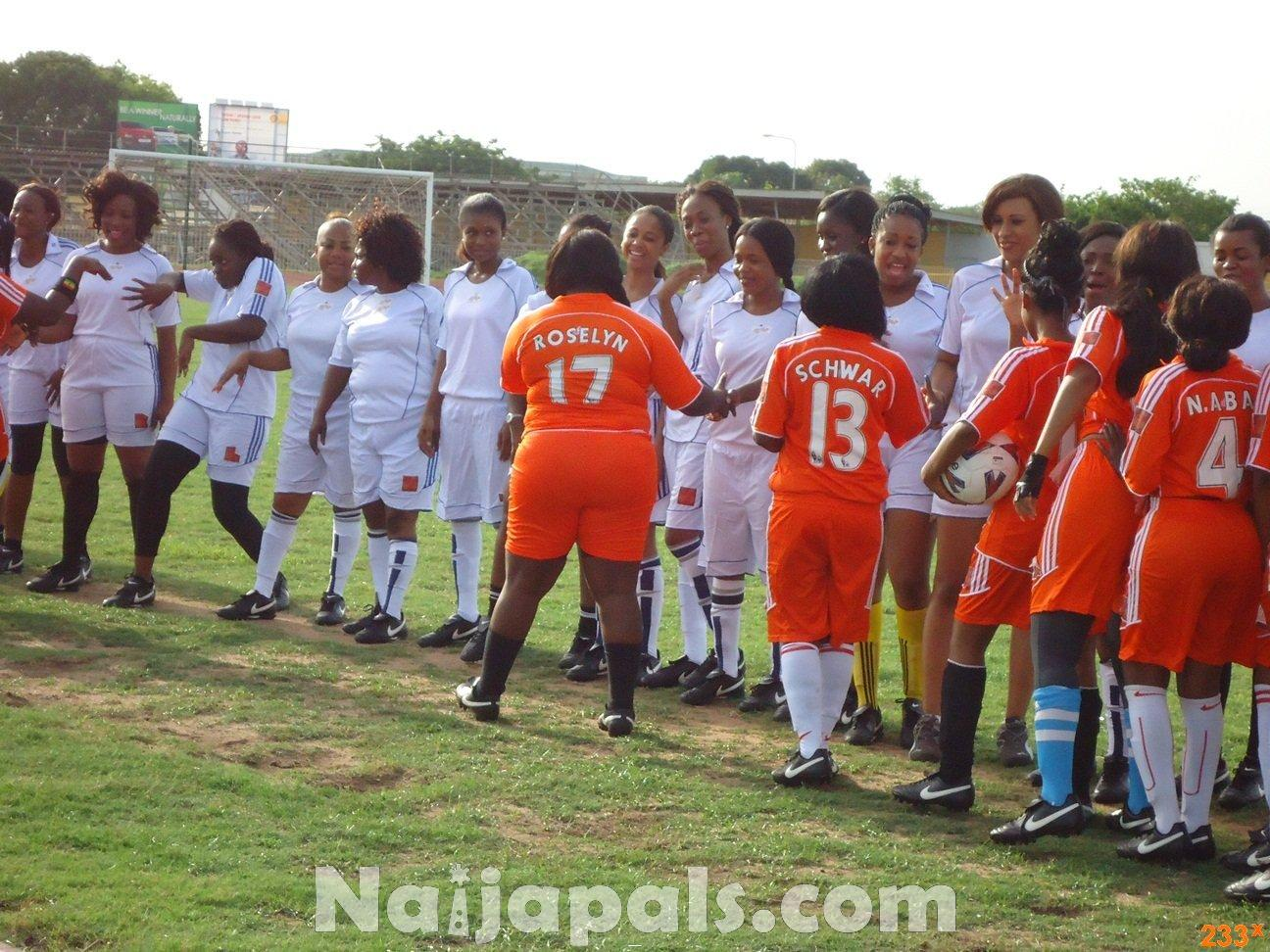 Ghana Female Celebrities Soccer Match 109