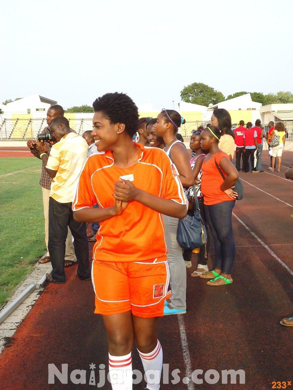 Ghana Female Celebrities Soccer Match 110