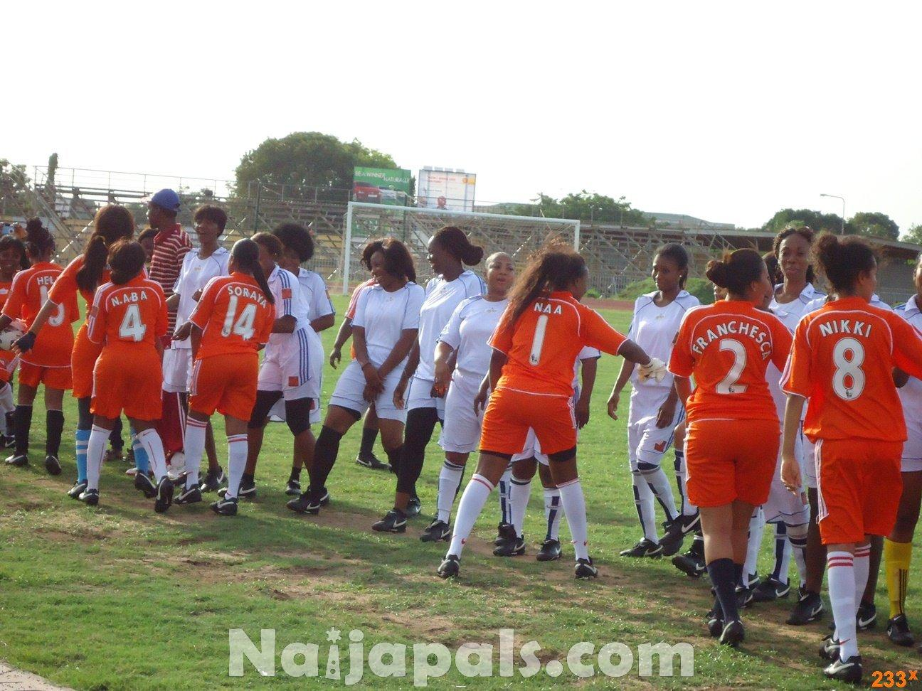 Ghana Female Celebrities Soccer Match 116