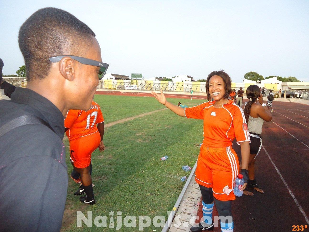Ghana Female Celebrities Soccer Match 117