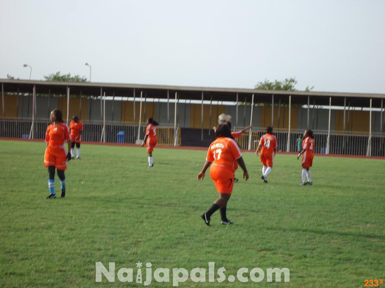 Ghana Female Celebrities Soccer Match 123