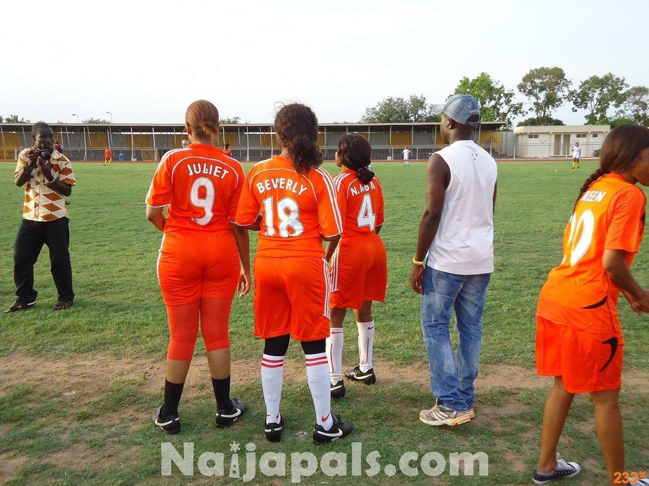 Ghana Female Celebrities Soccer Match 124