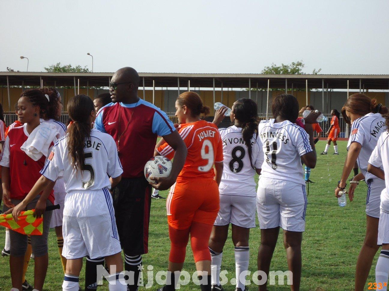 Ghana Female Celebrities Soccer Match 130