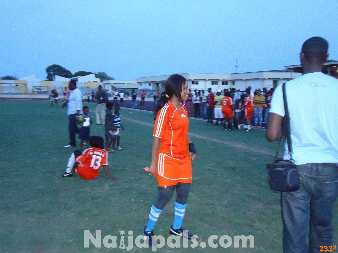 Ghana Female Celebrities Soccer Match 132