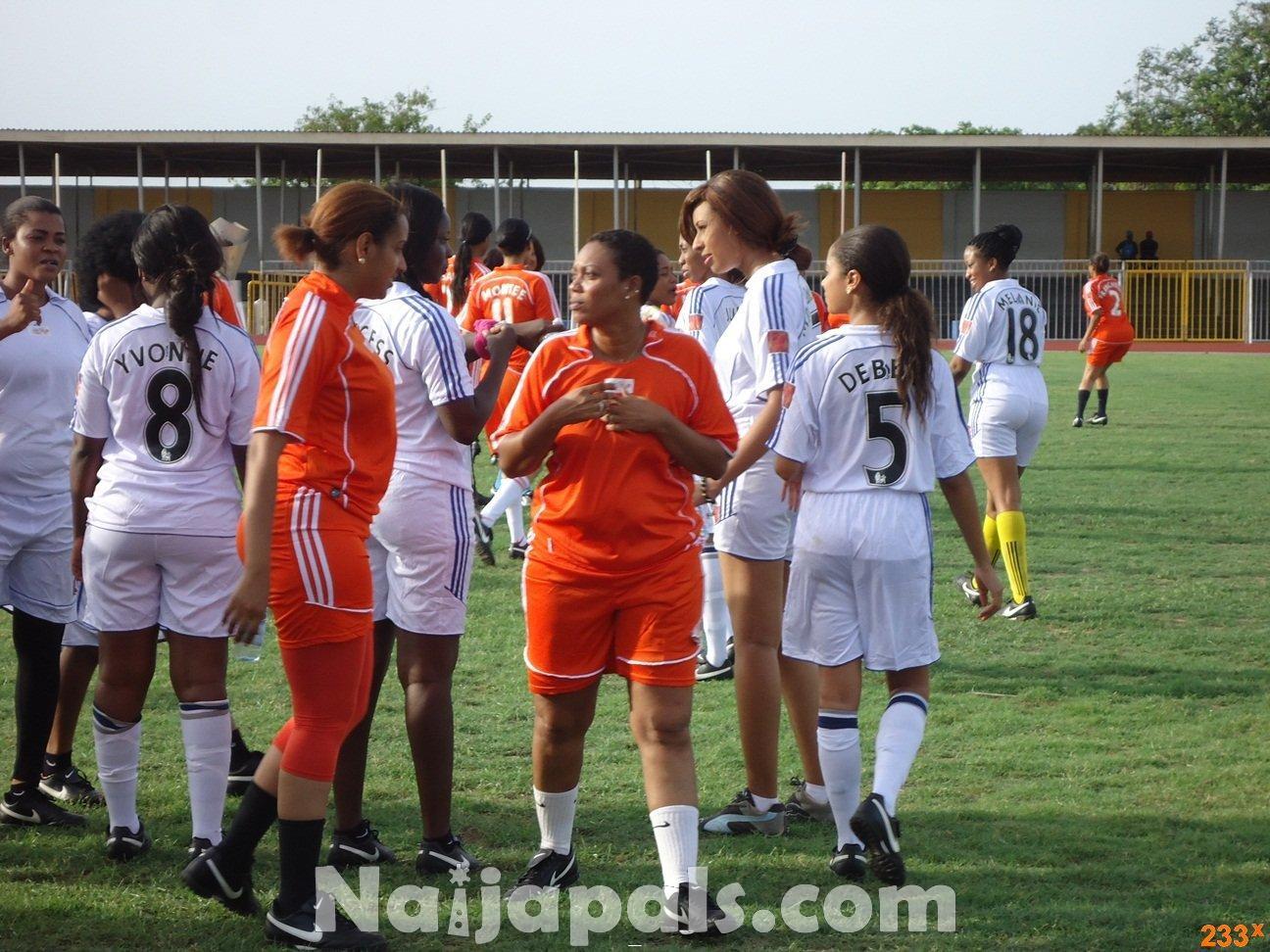Ghana Female Celebrities Soccer Match 137