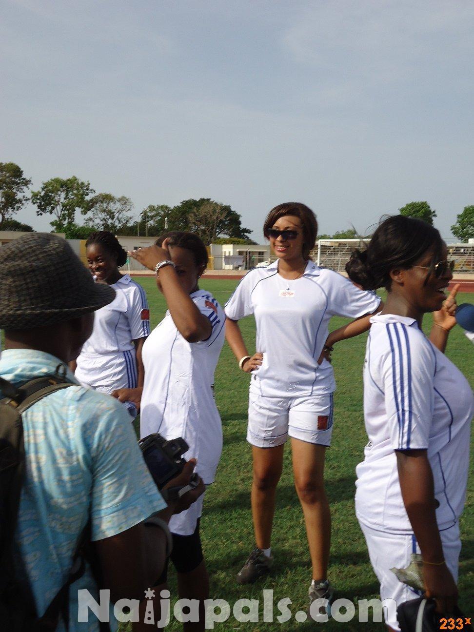 Ghana Female Celebrities Soccer Match 30